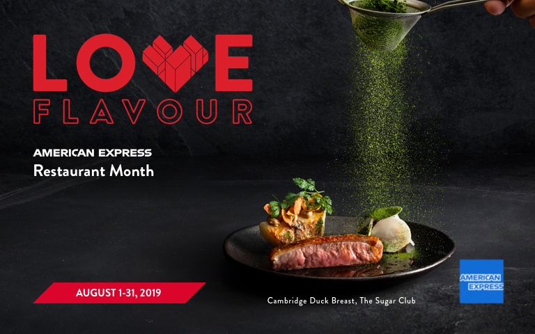 American Express Restaurant Month August 2019