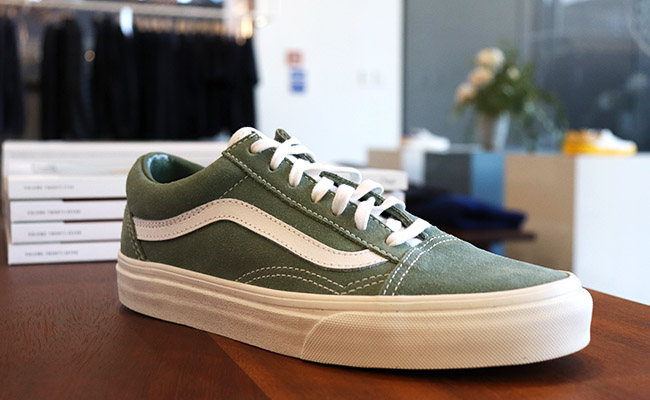 f339c2d1cd7 The Ice Flow Vans Old Skool are the legendary skate shoe refurbished in an  outer suede canvas. The shoe features reinforced toecaps
