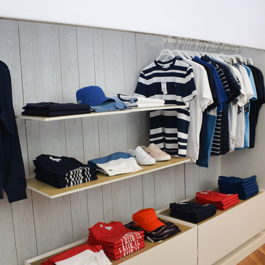 Mens casual clothing on display