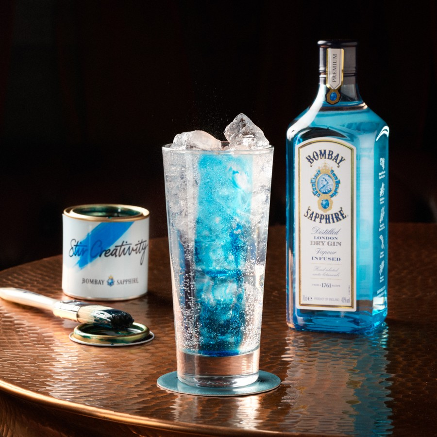 Bombay Sapphire to paint the town blue with edible paint