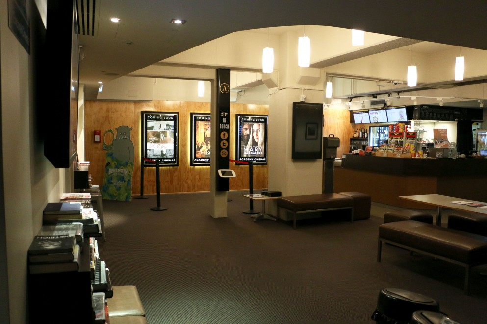 Interior of a cinema