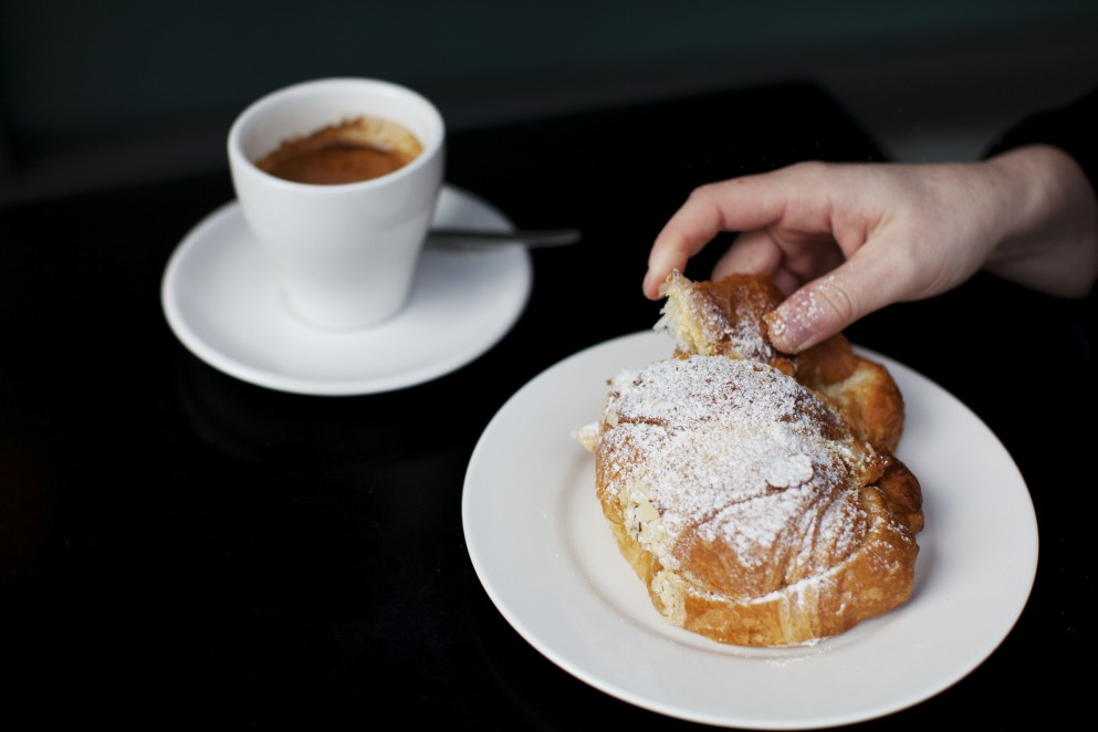 Pastries and coffee