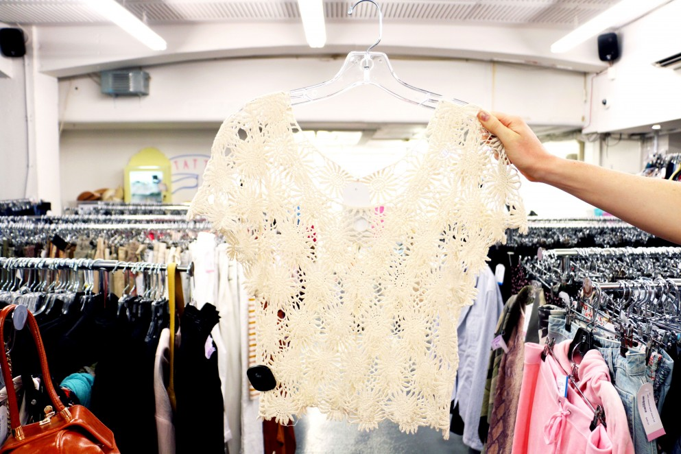 Womens flower lace top