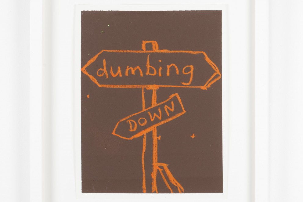 John Reynolds, 'Dumbing Down' 2006, from the 'Speaking Truth to Power' Series