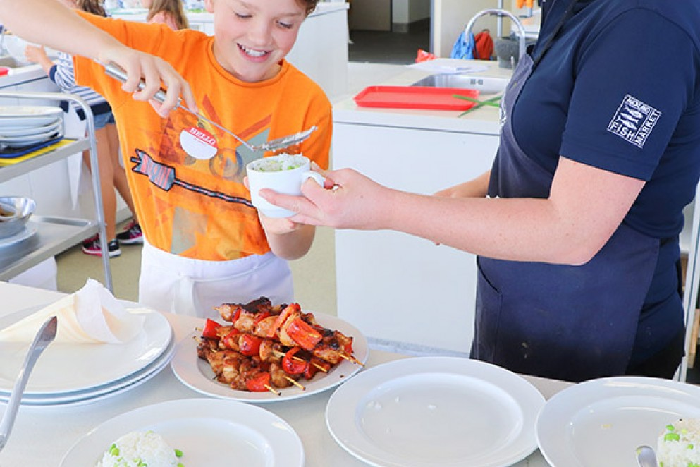 Kids Cooking Classes at the Seafood School