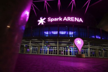 Spark Arena at night