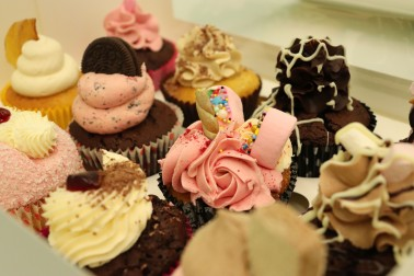 Assortment of chocolate cupcakes