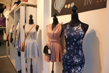 Mannequins displaying dresses