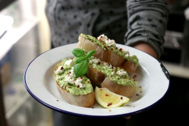 Avocado and feta on toast