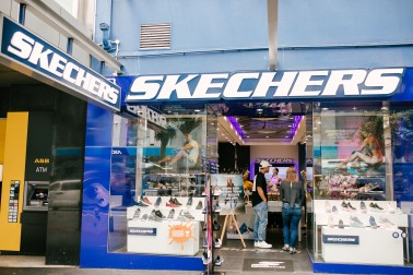 Outside view of the skechers store