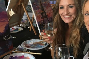 Wine and Paint Parties - Art In Bloom Academy