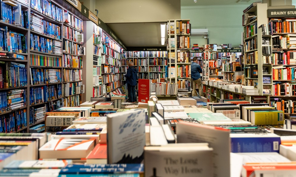 Interior of a bookstore