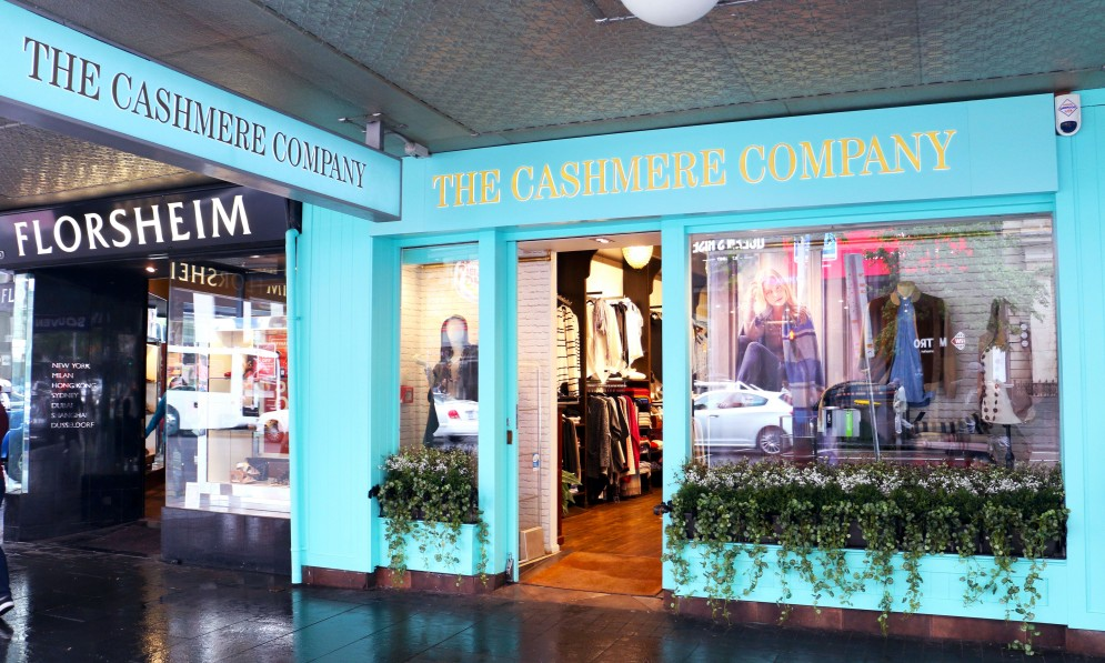 Exterior of The Cashmere Company
