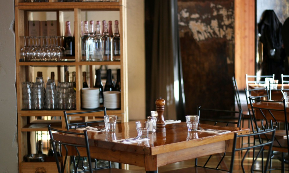Interior of eatery