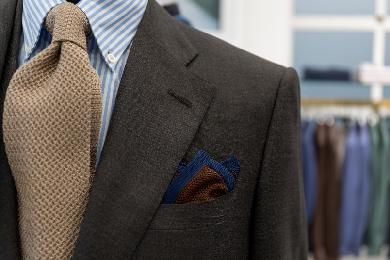 Pocket square on a mannequin